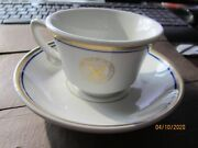 Department Of The Navy Cup And Saucer Vintage Shenango China New Castle Pa R26