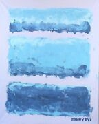 New Large Contemporary Original Modern Abstract Canvas Painting Art Dan Byl 4x5and039