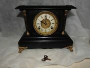 Antique Wm. Gilbert Colonia Mantle Clock Orig. Finish-restoration Or For Parts