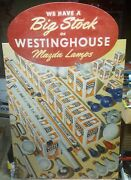 Vintage Westinghouse Mazda Lamps Countertop Standup Display Country Store 22 X14