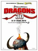 Poster 47 3/16x63in Dragons/how To Train Your Andhellip 2010 Sanders Film Anime Vgc