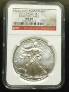 2011 Silver Eagle Ngc Ms69 25th Anniversary Free Shipping Gs5