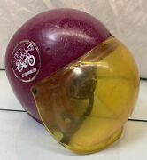 Vintage Ideal Toys Scrambler Cycle Childs Helmet Dated 1967