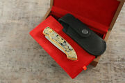 Craft Authorand039s Russian Forged Steel Gold Plated Knife Salmon