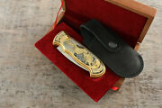 Craft Author's Russian Forged Steel Gold Plated Knife Duck Hunting