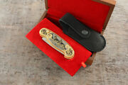 Craft Authorand039s Russian Forged Steel Gold Plated Knife Wolves