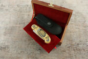 Craft Authorand039s Russian Forged Steel Gold Plated Knife Siberian Bear