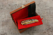 Craft Authorand039s Russian Forged Steel Gold Plated Knife Good Bite