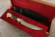 Unique Handmade Expensive Collectible Knife Golden Falcon Ei-107 Gold-plated