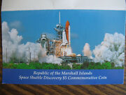 1988 Space Shuttle Discovery 5.00 Commemorative Coin-republic Marshall Islands