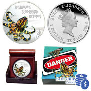 2008 1 Deadly And Dangerous Blue Ringed Octopus 1oz Silver Proof Coin 2779