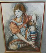 S.c.schonebergnot Your Everyday Raggedy Ann1977charcoal/pastelsigned41x31
