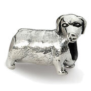 Lex And Lu Sterling Silver Reflections Dachshound Bead