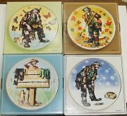 Emmett Kelly Jr Collectible Plates Winter Spring Summer Autumn By Dl Rusty Rust