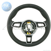 Oem Porsche 9912 Cayman 718 Boxster Black Leather Steering Wheel Gt-style Manual