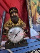 Mastercrafters Electric Lighted Pipe Novelty Motion Clock Ship Captain