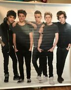 1d Rare One Direction Lifesize Promotional Display Collectible Vinyl Poster Roll