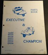 Vintage Cushman Executive And Champion Parts Manual 37 Pages P/n 819882 310