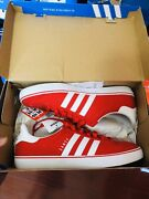 Adidas Mens Samoa Vulc Scarlet Red Size 9.5 Ds New C76444 Discontinued 2014