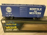 ✅weaver Norfolk Western 40' Ps-1 Box Car New For O Scale Train Set Southern Nandw