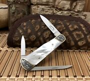 C. Gray Taylor Rare Mother Of Pearl 22kt Gold Engraved Ats-34 Lobster Knife