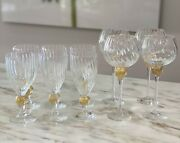 Annieglass 4 Wine And 6 Water Goblets Available/save 20 For All 10