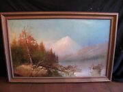 Antique Oil On Canvas Painting By Max Bleiman Circa 1900 Ca