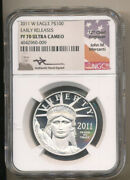Pop=19 2011 W 100 Platinum Eagle Ngc Pf70 Ucam Early Release Mercanti Proof