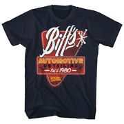 Back To The Future T Shirt Mens Biffs Detail 100 Navy Cotton In Sizes Sm - 5xl