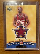 2003-04 Lebron James Upper Deck Rookie Ud Game Jersey All Star Relic Card Rare