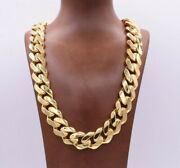 20mm Mens Miami Cuban Royal Link Chain Necklace Box Clasp Real 10k Yellow Gold