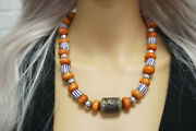 Moroccan Berber Necklace Resin Amber African Beads Tribal Necklace Mediteraneen