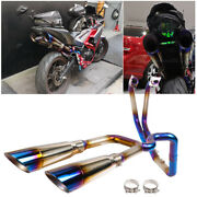 Motorcycle Exhaust Muffler Systerm Dual Outlet Header Pipe For Yamaha Yzf R3 R25