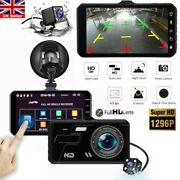4 In Car Camera Recorder Dual Front And Rear Hd 1080p Dash Cam Night Vision Uk