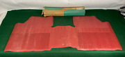 Nos 1964 64 Chevelle Ss Accessory Full-width Rear Floor Mat Unit Red Gm 985716