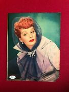 1950and039s Lucille Ball Autographed Jsa Full Letter Magazine Page Scarce