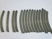 Kato N Scale Unitrak Lot Of Curved Track 15 Pieces