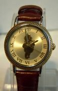 Disney Winnie The Pooh Collectible Wrist Watch - Gold Tone Silhouette - Rare