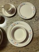 43 Pc Lenox Glories On Grey Dinner Plate Salad Cup Saucer Chinastone For The Lot