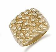 9ct Yellow Gold Woven Back 5 Row Keeper Ring
