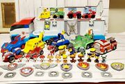 Paw Patrol Lot 2 Patrollers 8 Vehicles 6 Racers 10 Action And 14 Mini Pups 7 Badge