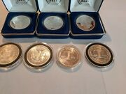 Silver Coins 7 1 Oz. .999 Fine Nat. Collectors Mint.  3 In Boxes