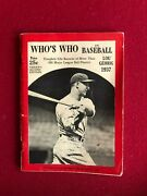 1937, Lou Gehrig, Who's Who In Baseball Magazine Scarce / Vintage Yankees