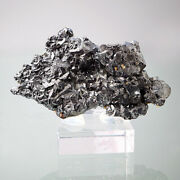 Acanthite From Freiberg With Old Label, Himmelsfuerst Mine, Saxony , Germany
