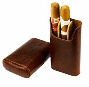 Brizard And Co. - The Show Band 3 Cigar Case - Antique Saddle Leather