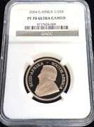 2004 Gold South Africa 1/2 Krugerrand Coin Ngc Proof 70 Ultra Cameo