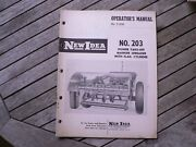 New Idea Farm Equipment No 203 Power Take Off Manure Spreader Owners Manual