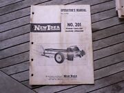 New Idea Farm Equipment No 201 Power Take Off Manure Spreader Owners Manual