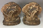 Stunning Ombroso 1924 Rookwood Pottery Bookends - Ships - 2695 William Mcdonald