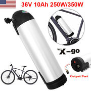 36v 10ah Bottle Li-ion Lithium E-bike Battery For 350w Electric Bicycle Us Stock